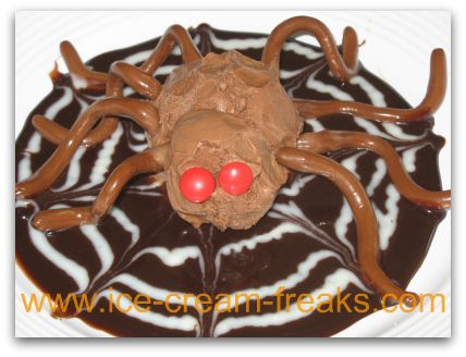 Spider Ice Cream Sundae Recipe